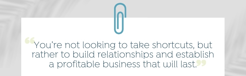 profitable businesses are build on relationships